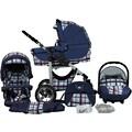 bergsteiger Kombi-Kinderwagen »Capri, blue stripes, 3in1«, 15 kg, Made in Europe; Kinderwagen