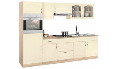 wiho Küchen Küchenzeile »Linz«, mit E-Geräten, Breite 270 cm kaufen