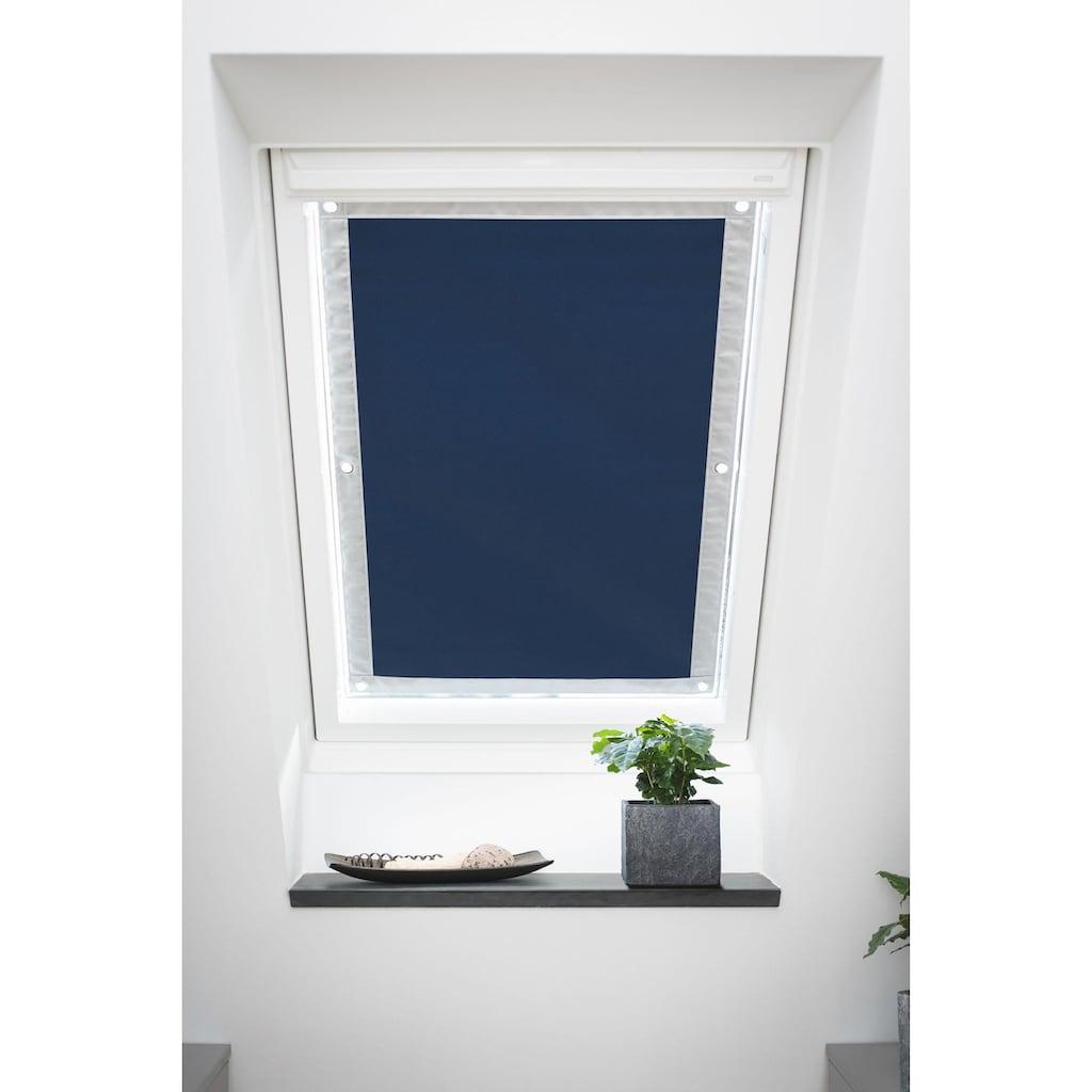 LICHTBLICK ORIGINAL Dachfensterrollo »Haftfix Hitzeschutz Abdunkelung«, verdunkelnd, Perlreflex-beschichtet-energiesparend, ohne Bohren, verspannt, mit Thermobeschichtung, mit Saugnapf