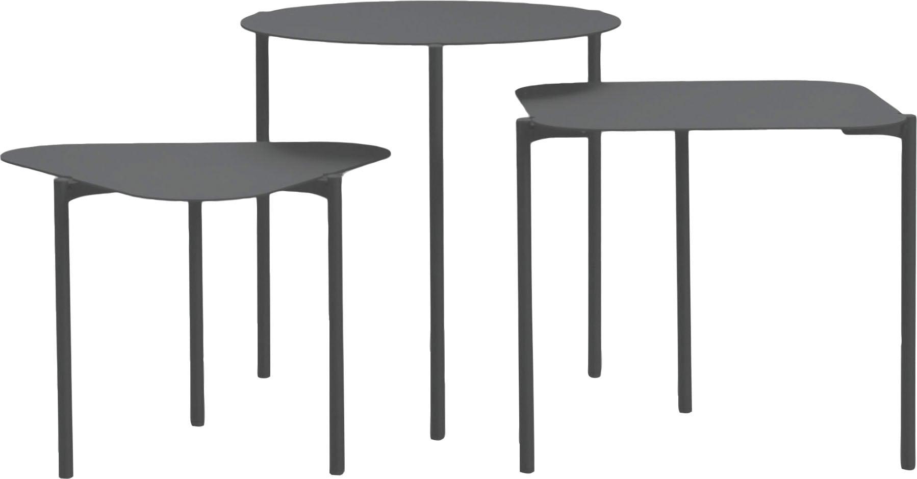 Spinder Design Beistelltisch Doremi, 3er-Set grau Beistelltische Tische