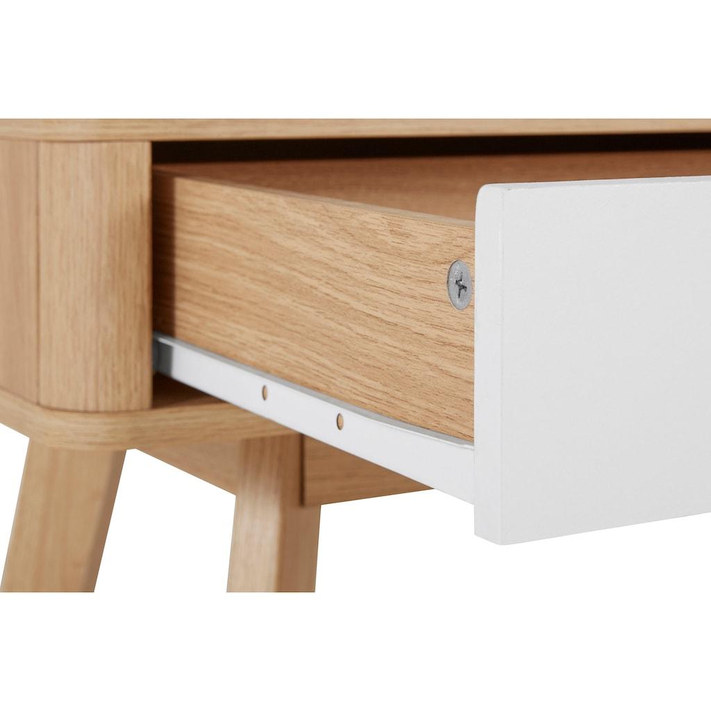 my home Schreibtisch »Finnley«, erstrahlt in einer schönen Holzoptik, mit abgerundeten Kanten, in zwei Farbvarianten, Breite 120 cm