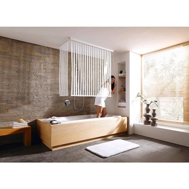 KLEINE WOLKE Eck-Duschrollo »Streifen weiß«, 134 x 240 cm