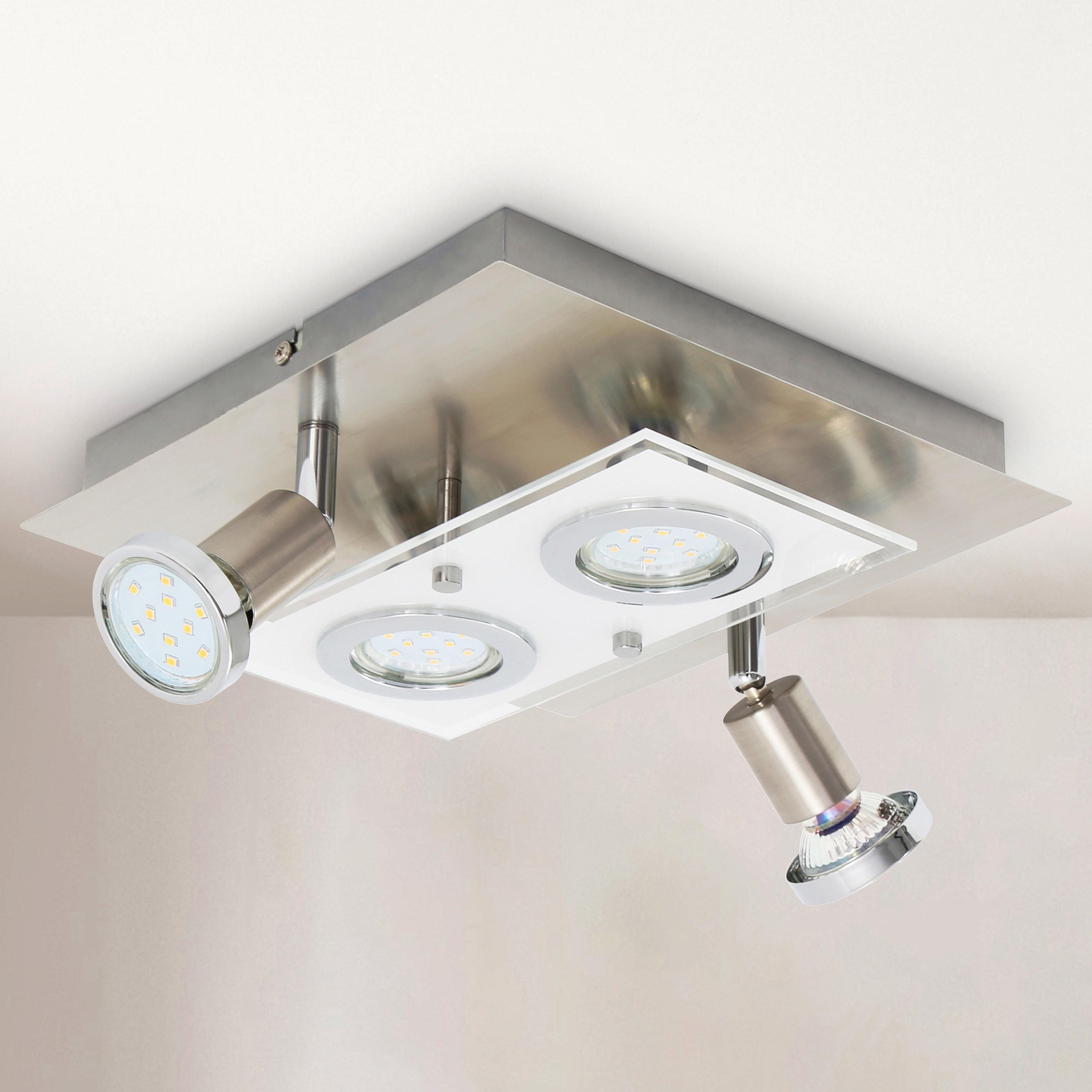B.K.Licht LED Deckenleuchte Mercurio, GU10, Warmweiß, LED Deckenspot Decken-Strahler Flur Wohnzimmer Deckenlampe inkl. 3W 250lm
