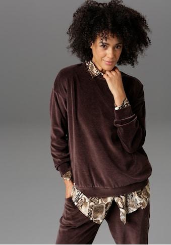 Aniston CASUAL Sweatshirt, in weicher Samt-Qualität - NEUE KOLLEKTION kaufen