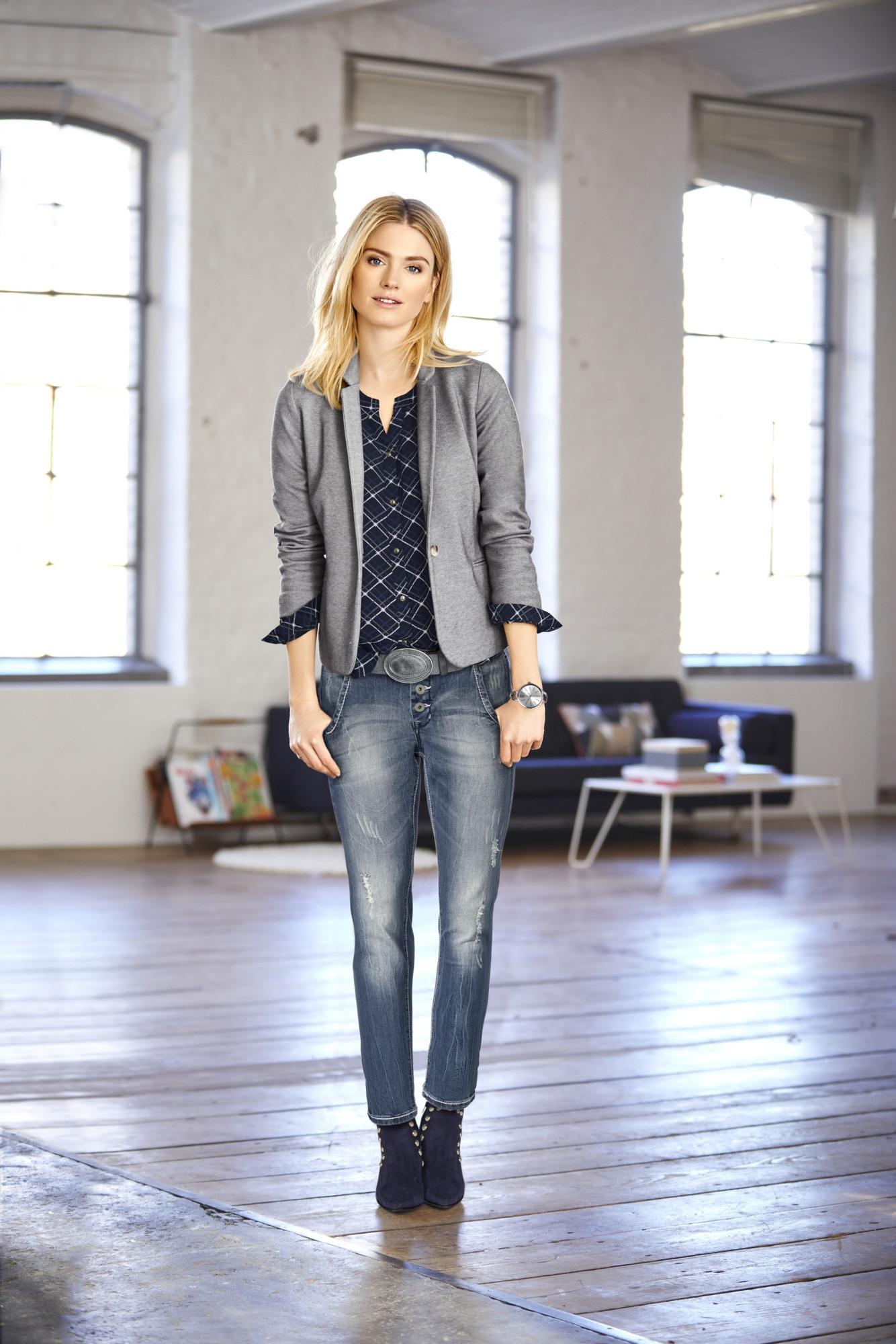 LINEA TESINI by Heine Boyfriend Jeans Caja mit Used Effekt online bestellen | BAUR
