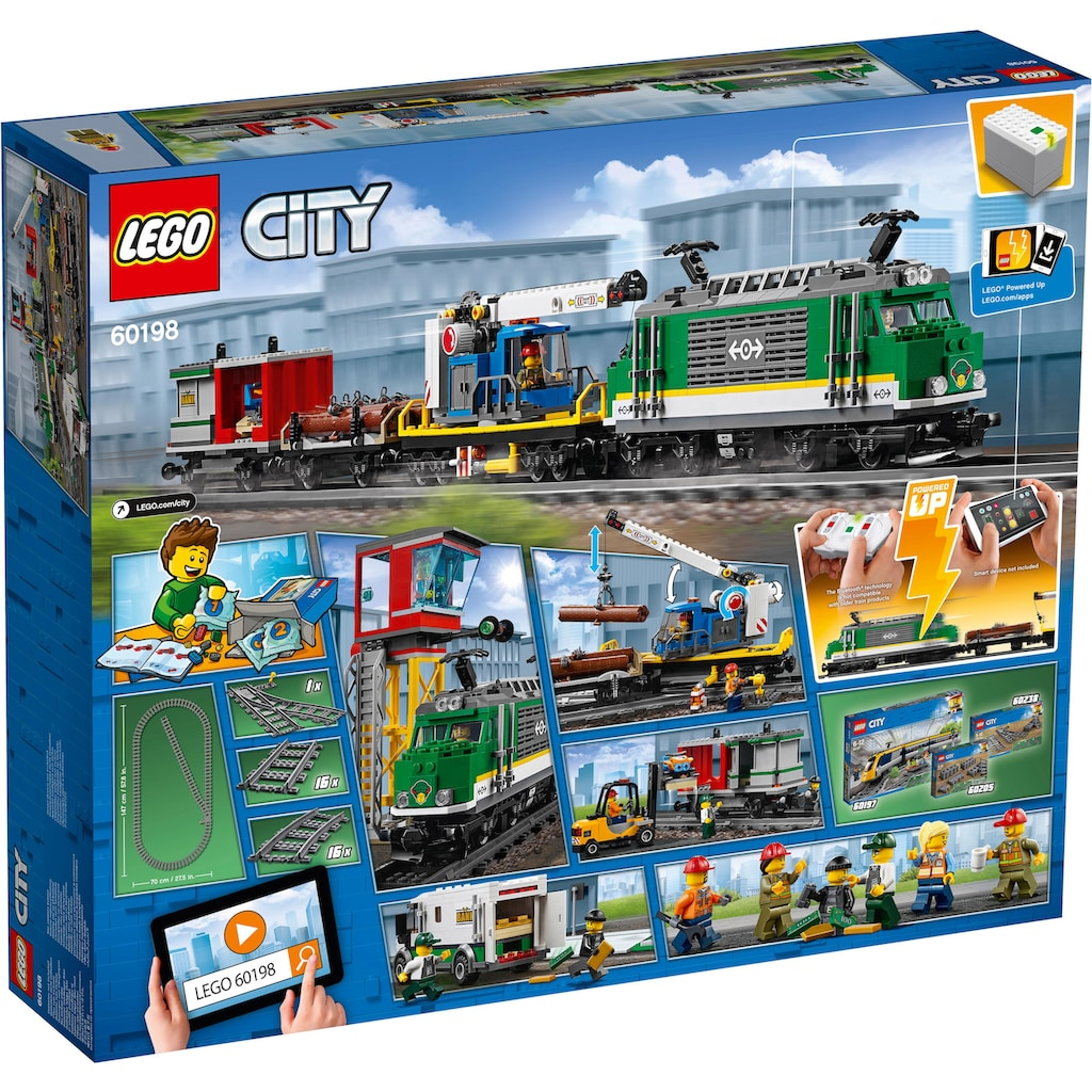LEGO® Konstruktionsspielsteine »Güterzug (60198), LEGO® City«, (1226 St.)