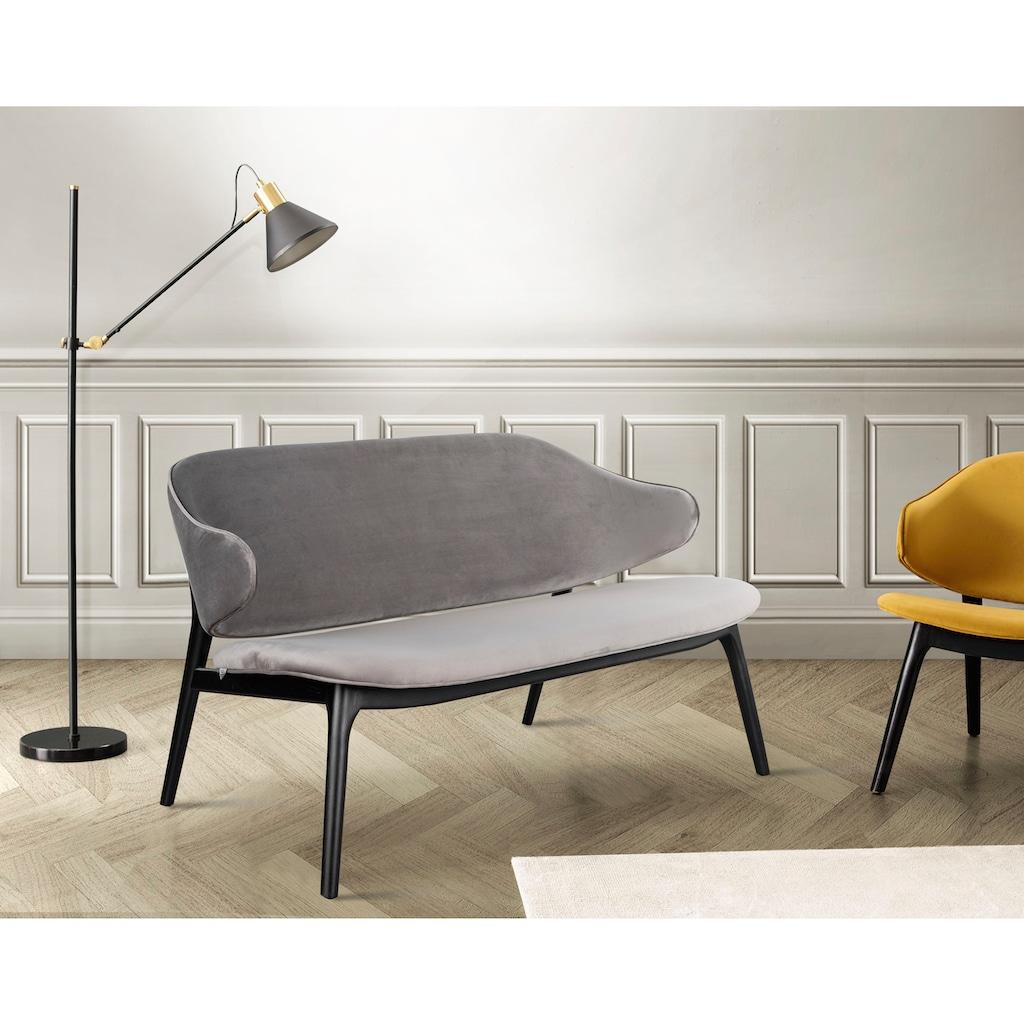 andas Sofa »Sporring«, Sofabank mit einer gebogenen Rückenlehne