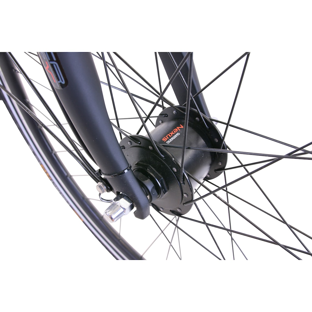 HAWK Bikes Trekkingrad »HAWK Trekking Gent Premium Plus Black«, 24 Gang, Shimano, Altus Schaltwerk