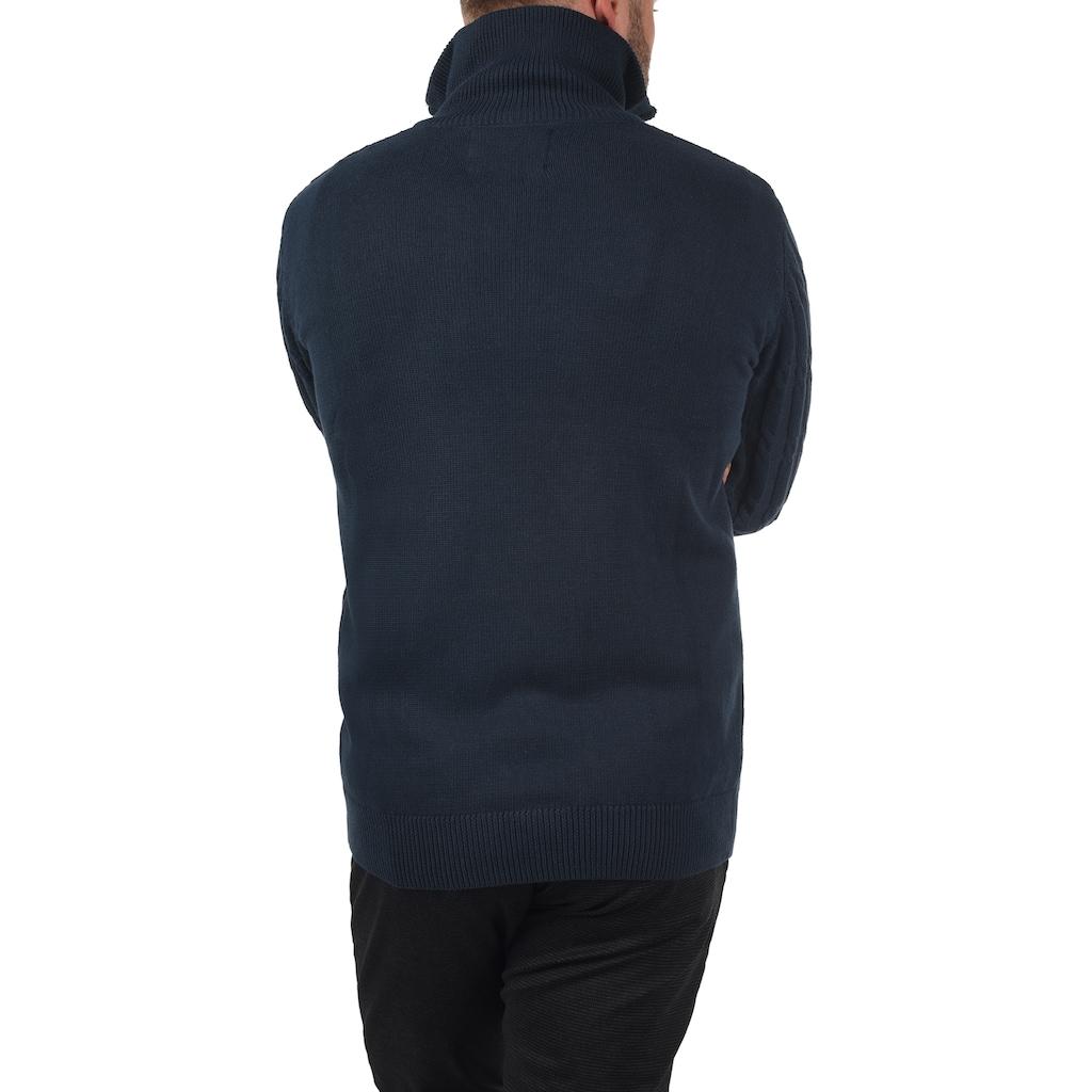 Indicode Troyer »Paulo«, Strickpulli mit Stehkragen