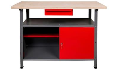 Kreher Werkbank, B/T/H: 120x60x85 cm, 1x Schublade, 1x Tür, 1x Ablage kaufen
