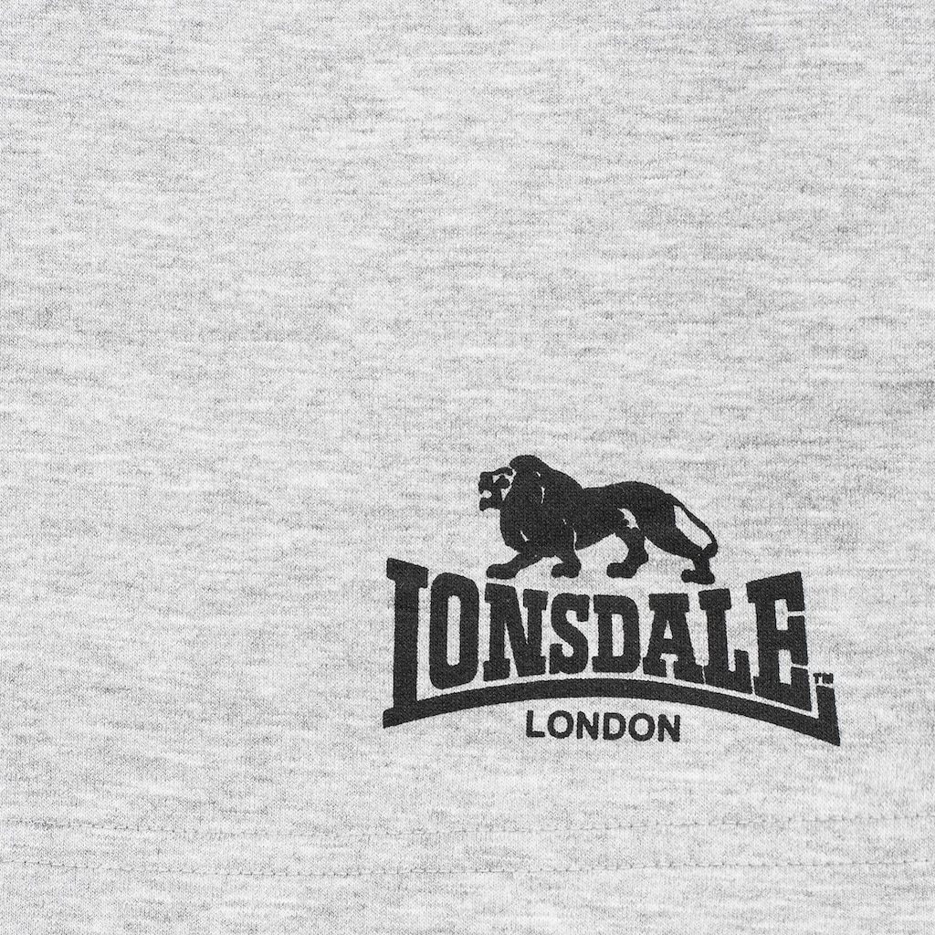 Lonsdale Sweatshorts »AVELEY«, mit dezentem Logo-Print
