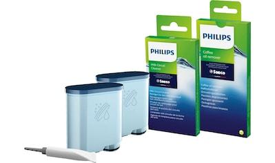 Saeco »CA6707/10« Pflegeset (15 - tlg., 2 x AquaClean Filter, 6 x Kaffeefettlöse - Tabletten, 6 x Milchkreislauf - Reiniger, Brühgruppenfett) kaufen