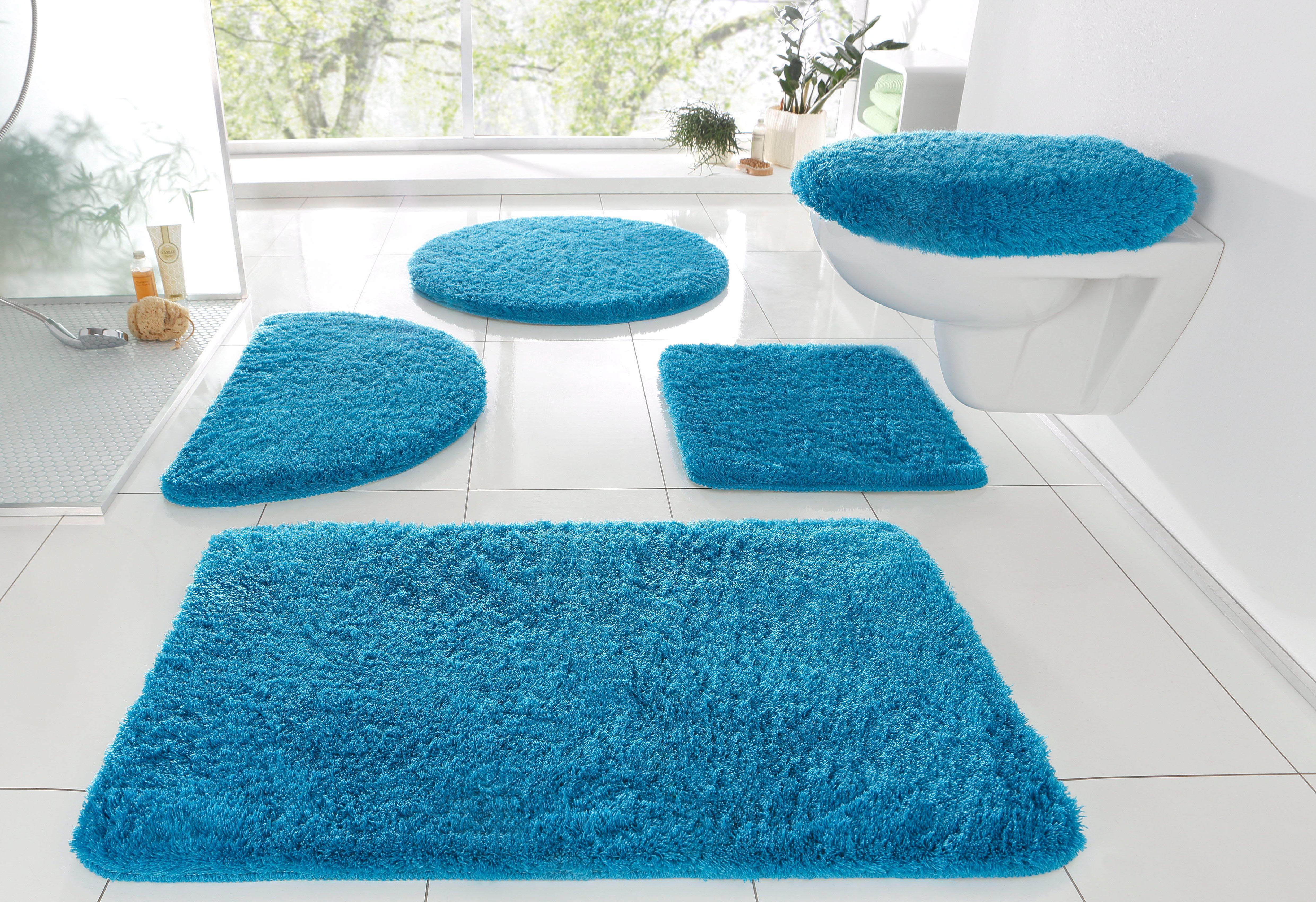 Badematte »Merida«, my home, Höhe 32 mm, fußbodenheizungsgeeignet   Bad > Badgarnituren > Badvorleger   Blau   MY HOME