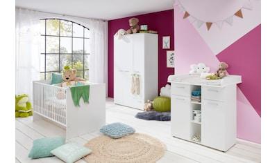 Babyzimmer-Komplettset »Tilburg«, (Set, 3 St.), Wickelkommode, Bett und 3trg. Schrank kaufen