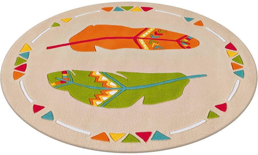 Arte Espina Kinderteppich Spirit 3141, rund, 17 mm Höhe bunt Kinder Bunte Kinderteppiche Teppiche