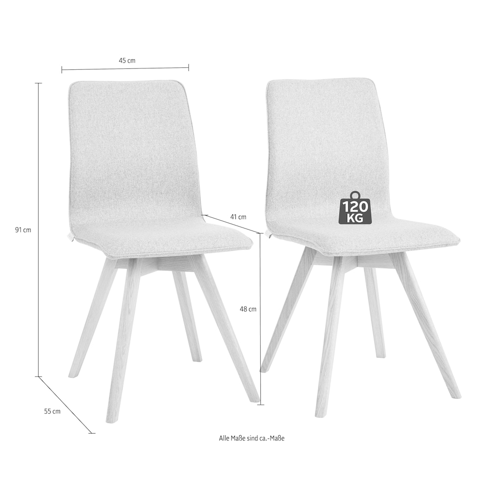 Guido Maria Kretschmer Home&Living 4-Fußstuhl »Dalea«, im 2er, 4er oder 6er-Set