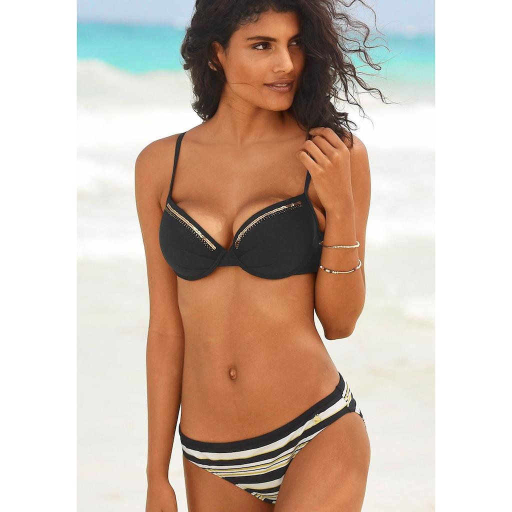 LASCANA Push-Up-Bikini-Top »Gloriaria«, mit Paillettenkante