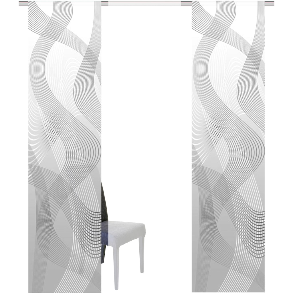 HOME WOHNIDEEN Schiebegardine »VACALLONE«, HxB: 245x60, 3er Set
