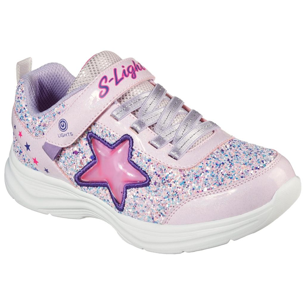 Skechers Kids Sneaker »GLIMMER KICKS«, mit seitlicher Stern-Applikation