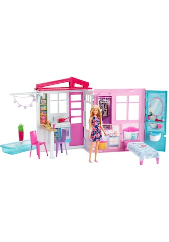 Mattel® Puppenhaus »Barbie Ferienhaus«, mit Möbeln und Puppe kaufen