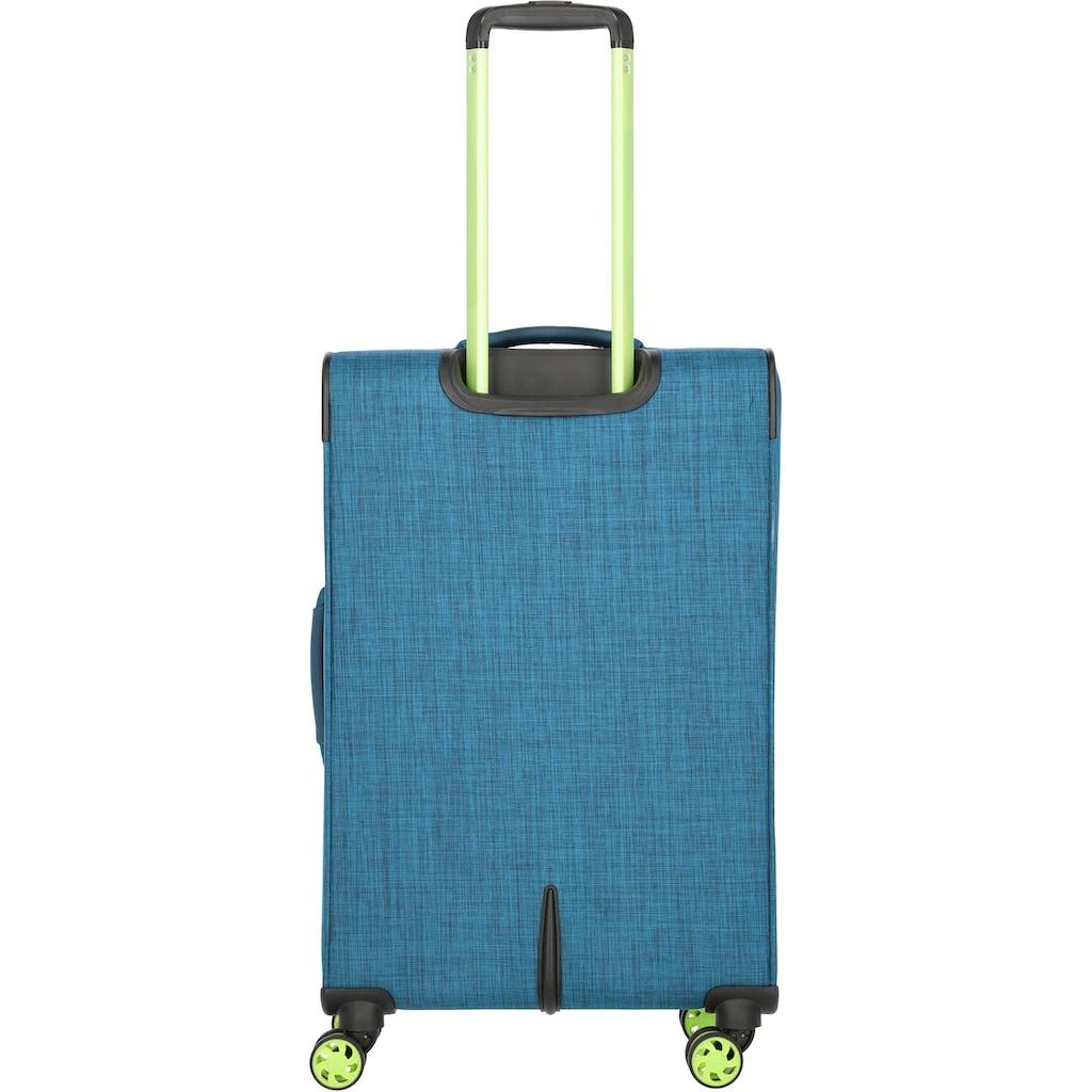 travelite Weichgepäck-Trolley »Proof M, 68 cm«, 4 Rollen, mit Dehnfalte
