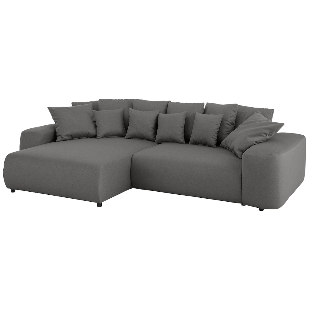 Home affaire Ecksofa »Sundance Luxus«, mit besonders hochwertiger Polsterung für bis zu 140 kg pro Sitzfläche; wahlweise mit Beffunktion, Bettkasten, Topper