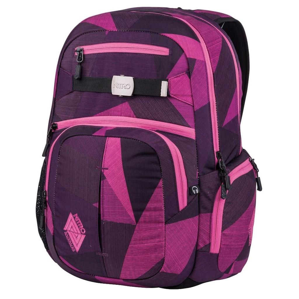 NITRO Schulrucksack »Hero, Fragments Purple«, mit Laptopfach