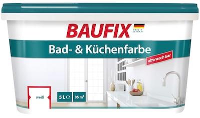 Baufix Wand- und Deckenfarbe »Bad und Küchenfarbe«, 5 Liter, weiß kaufen