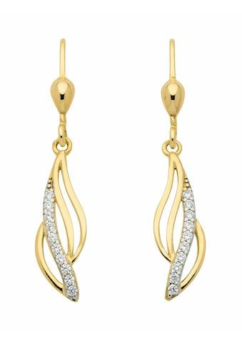 Adelia´s Paar Ohrhänger »333 Gold Ohrringe / Ohrhänger mit Zirkonia«, Goldschmuck für... kaufen