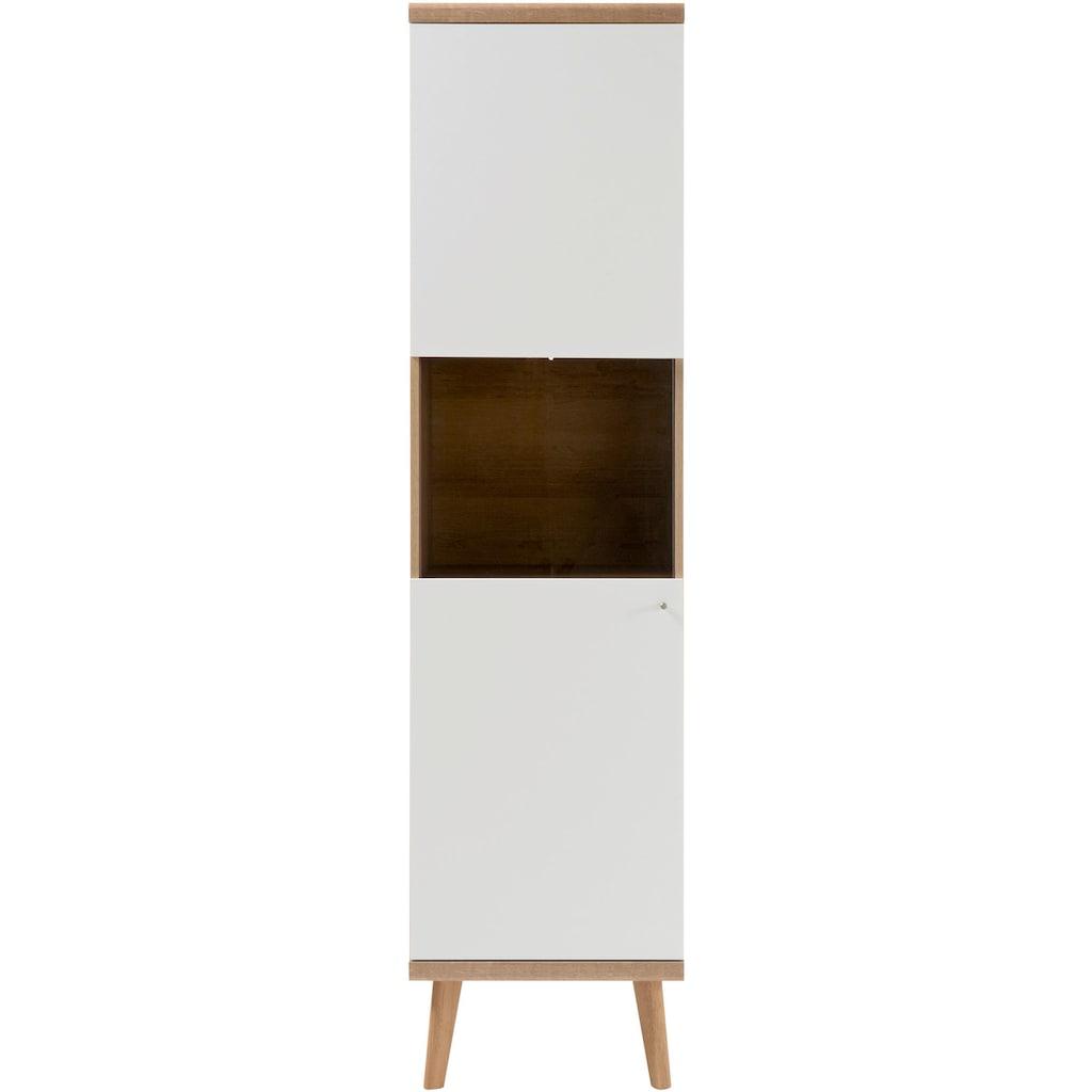 andas Vitrine »Merle«, mit Glaseinsatz im skandinavischen Design, Höhe 197 cm