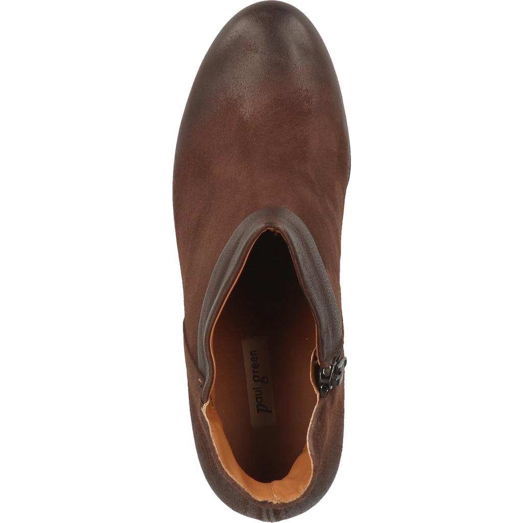 Paul Green High-Heel-Stiefelette »Veloursleder«