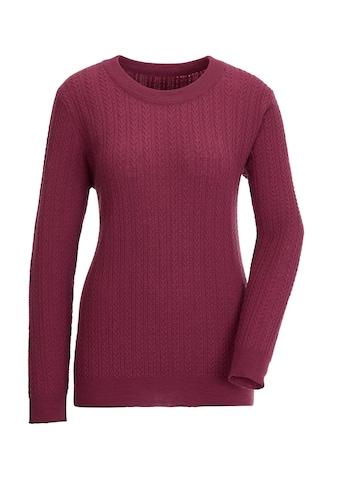 Creation L Merino - Kaschmir - Pullover mit dekorativem Zopfmuster kaufen