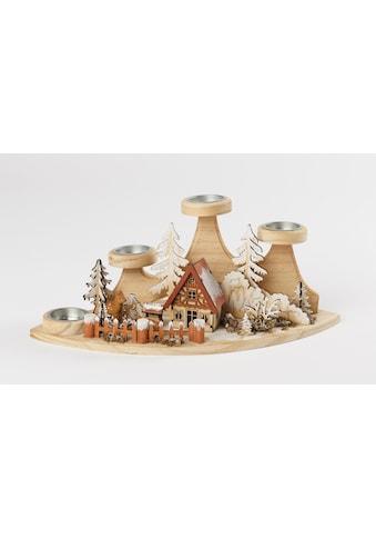 HGD Holz - Glas - Design Teelichtleuchter Wald kaufen