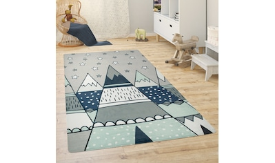 Paco Home Kinderteppich »Chicos 553«, rechteckig, 2 mm Höhe, Motiv Berge, Kinderzimmer kaufen