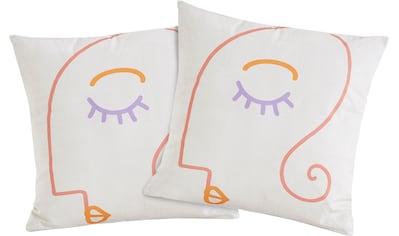COUCH♥ Kissenbezug »Gesichtet«, (2 St., 2x 50x50), Kissen kaufen