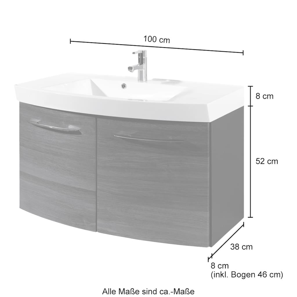 HELD MÖBEL Badmöbel-Set »Florida«, (2 St.), Waschplatz Breite 100 cm und Spiegelschrank