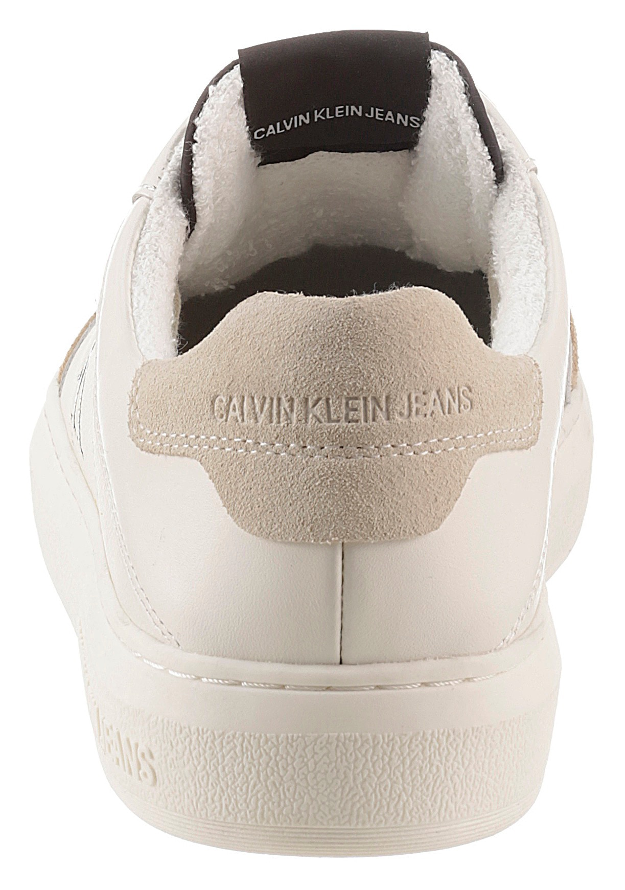 calvin klein -  Sneaker, mit kontrastfarbenem Logo