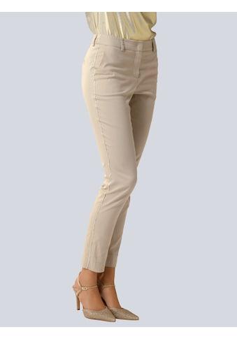 Alba Moda 7/8-Hose, mit modischer Paspel in leichtem Glanz kaufen
