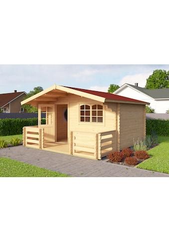 OUTDOOR LIFE PRODUCTS Set: Gartenhaus »Valga 28«, BxT: 400x430 cm, inkl. Terrasse, Fußboden und Dachschindeln kaufen