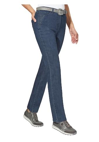 Casual Looks Jeans mit aufwändiger Rautenstickerei kaufen