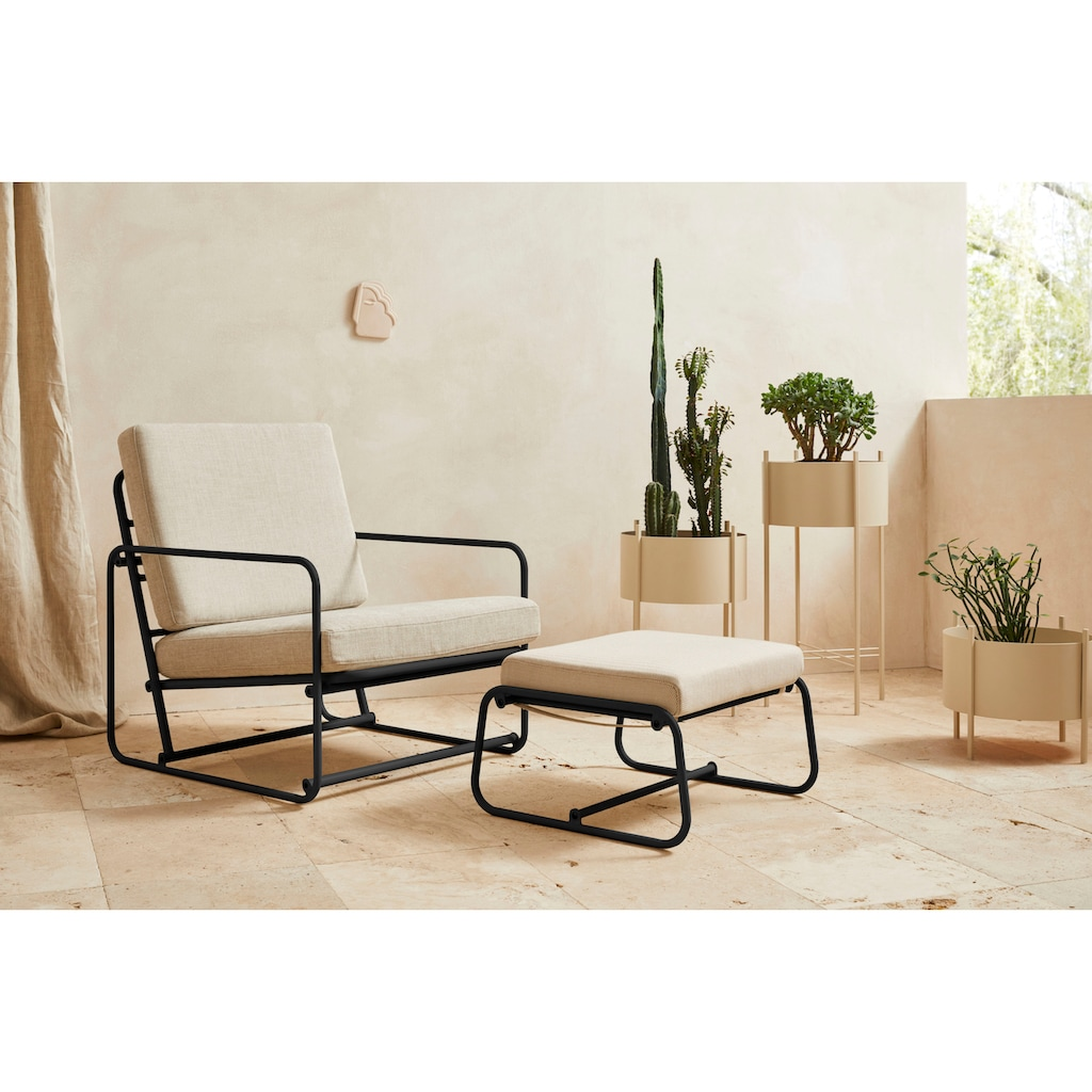 LeGer Home by Lena Gercke Loungesessel »Indira«, Sitz -und Rücken gepolstert, in 2 Varianten erhältlich