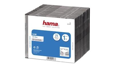 Hama CD - Leerhülle Slim, 25er - Pack, Transparent/Schwarz kaufen