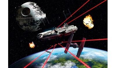 KOMAR Set: Fototapete »Star Wars Millennium Falcon«, Ausgezeichnet lichtbeständig kaufen