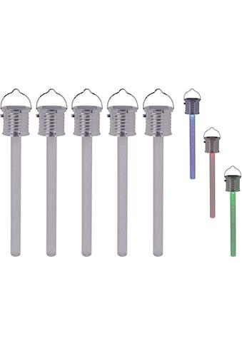 näve LED Gartenleuchte »THERMOMETER«, LED-Board, Set, 5 Stück kaufen