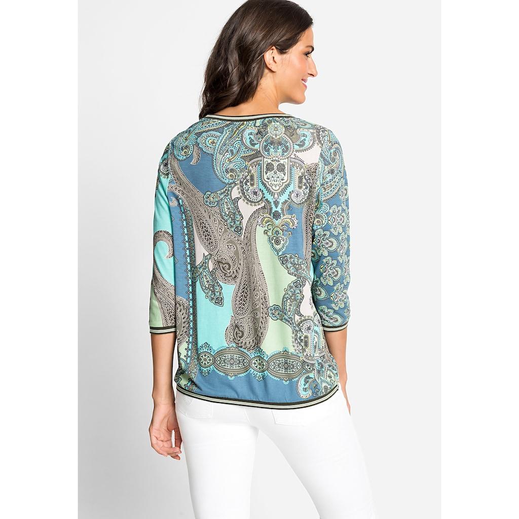 Olsen Rundhalsshirt, mit Paisley-Muster