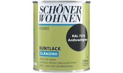 SCHÖNER WOHNEN-Kollektion Lack »Home Buntlack«, glänzend, 750 ml, anthrazitgrau RAL 7016 kaufen
