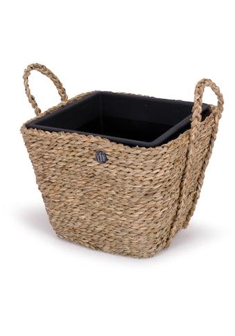 Franz Müller Flechtwaren Pflanzkübel, aus Seegras, mit Kunststoffeinsatz, quadratisch kaufen