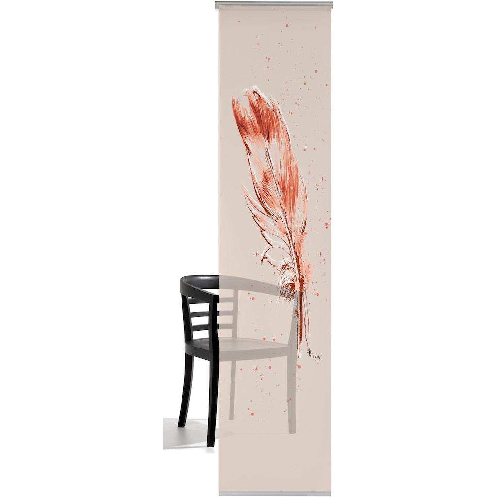 emotion textiles Schiebegardine »Temperafeder«, HxB: 260x60, mit Befestigungszubehör