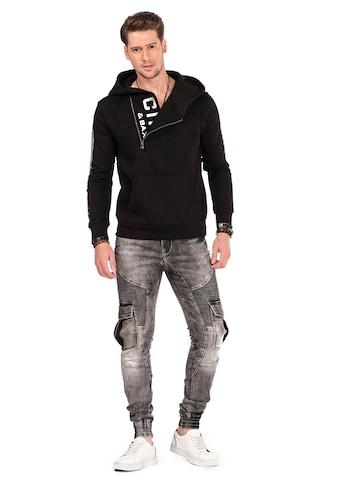 Cipo & Baxx Kapuzensweatshirt, mit praktischem Reißverschluss kaufen