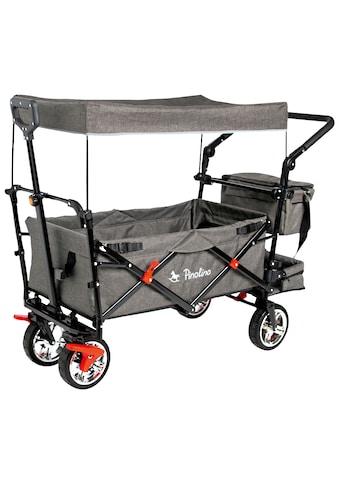 Pinolino® Bollerwagen »AddPlus«, BxTxH: 56x120x67 cm, mit Bremse, grau meliert kaufen